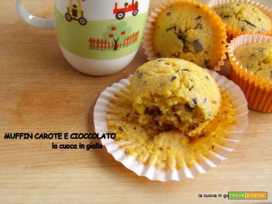 Muffin carote e cioccolato