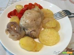 Multicottura col CuCo: brodo e bollito misto, pollo al cartoccio con peperoni