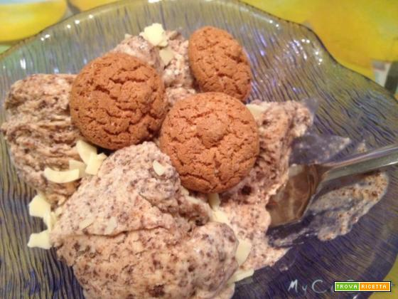 Gelato di Carolina, Amaretto e cioccolato fondente, con Cuisine Companion Moulinex