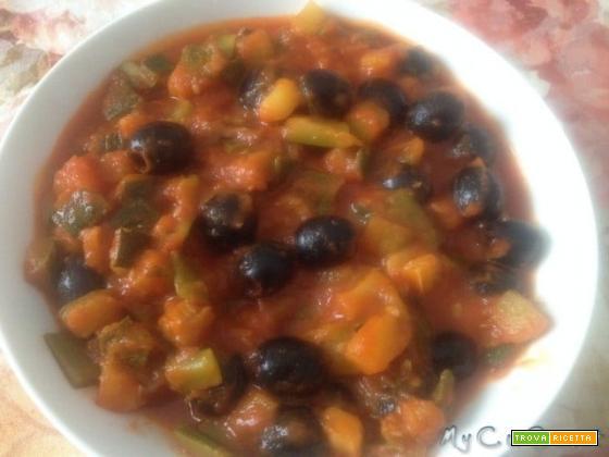 Zucchine e olive nere