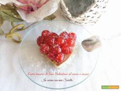 Cuore tenero di San Valentino al cocco e cacao