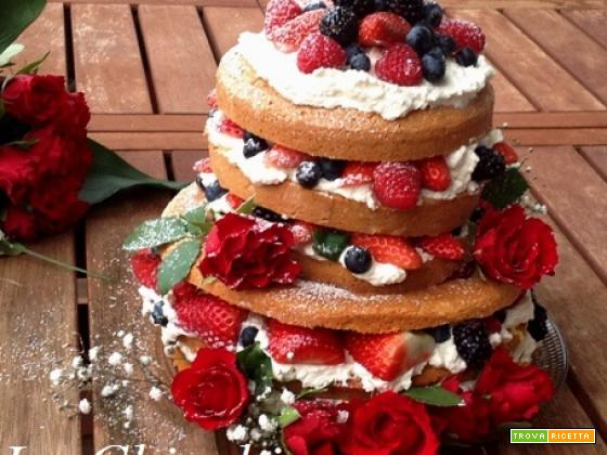 Naked cake (tanti auguri alla Chicchina)