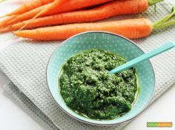 Pesto con ciuffi di carote