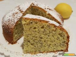 Torta soffice al limone e semi di papavero con olio