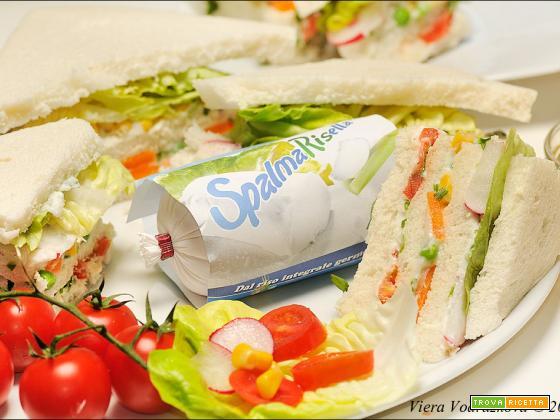 Tramezzini Spalmarisella e verdure
