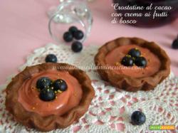 Crostatine-cacao-crema-frutti di bosco