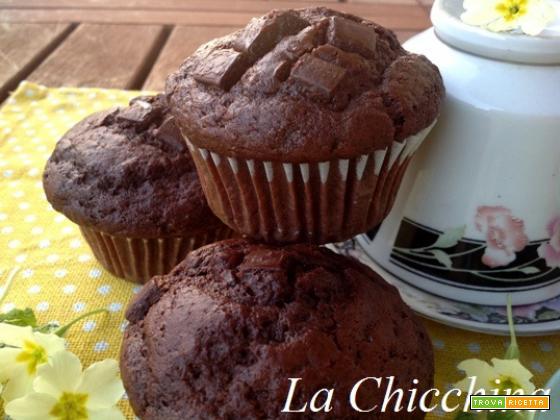 Muffins cioccolatosi  (senza burro)
