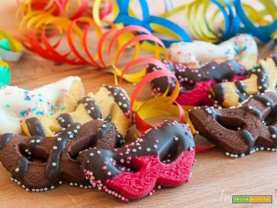 Mascherine di carnevale colorate
