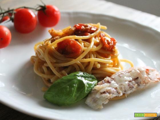 Spaghetti con le canocchie – ricetta facile e veloce