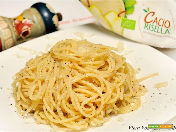 Spaghetti cacio(risella) e pepe