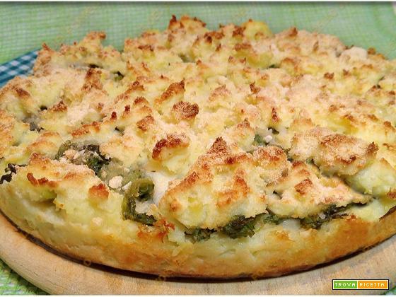 Sbrisolona salata di patate broccoli e mozzarella di bufala