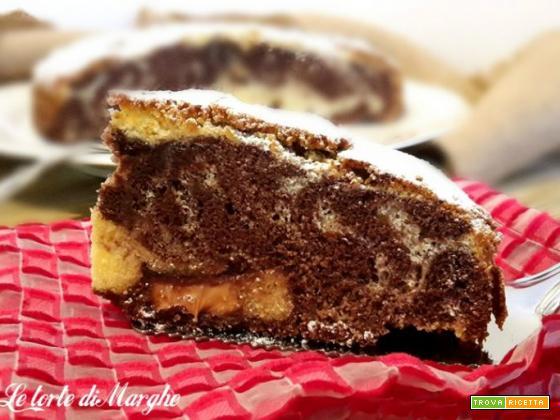 Torta variegata al cioccolato con farina di riso