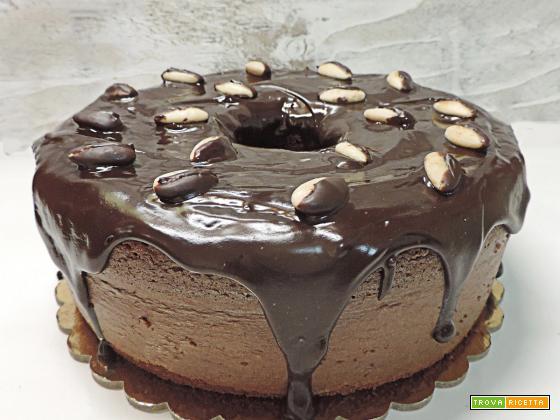 Chiffon cake al cacao e mandorle ( primo compliblog)