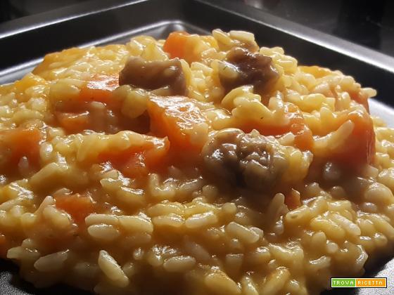 Risotto Zucca e Castagne