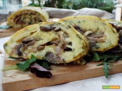 Rotolo di patate funghi e formaggio