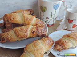 Croissants di sfoglia dolci