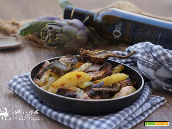 Patate e carciofi al forno