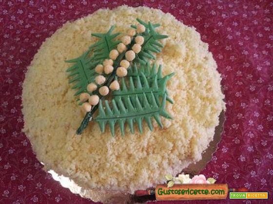 Torta mimosa panna e nutella