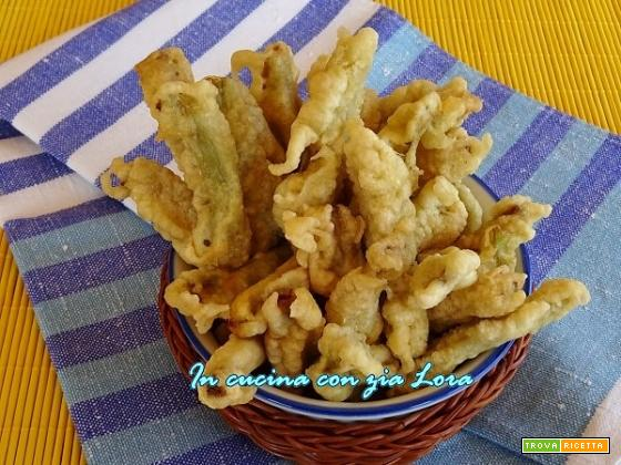 Gambi di carciofi cimaroli fritti