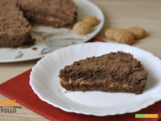 Sbriciolata al cacao con ricotta e amaretti
