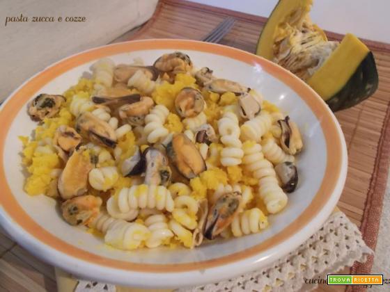 Pasta zucca e cozze