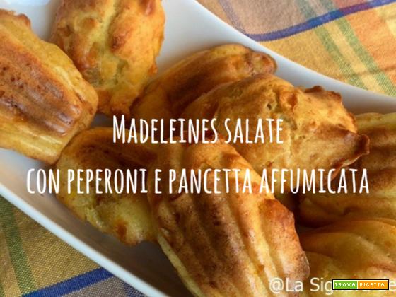 Madeleines salate con peperoni gialli e pancetta affumicata