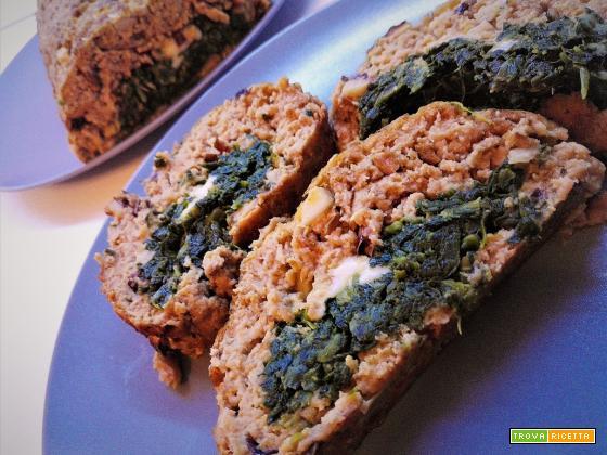 Polpettone al radicchio farcito con spinaci