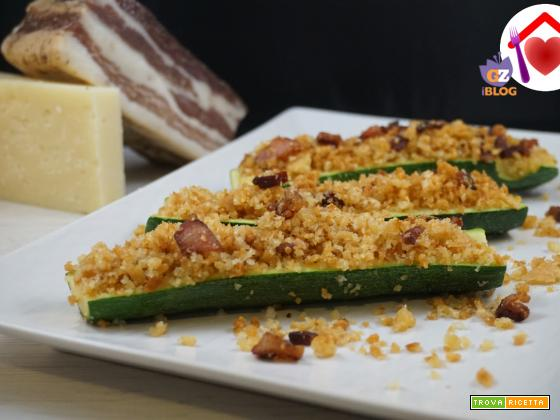 Barchette di zucchine croccanti