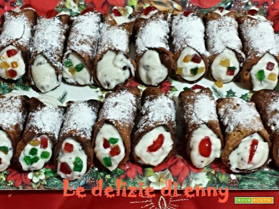 Cannoli siciliani con gocce di cioccolato