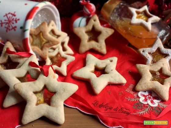 Biscotti di vetro natalizi con pasta frolla | versione senza zucchero