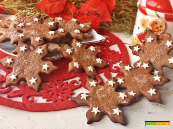 Fiocchi di neve con nocciole e cacao | Biscotti natalizi