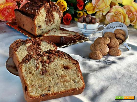 plumcake con nocciole amaretti e cioccolato - ricetta