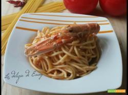 Spaghetti alla chitarra con scampi