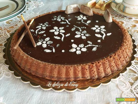 Torta con glassa ai Gianduiotti senza lievito - ricetta