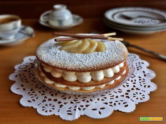 torta ricotta e pere con pasta frolla - versione rivisitata