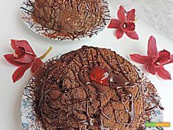 Zuccotto mascarpone ricotta e gocce di cioccolato  (Freddi dolciaria)