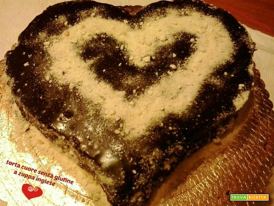 Torta cuore senza glutine