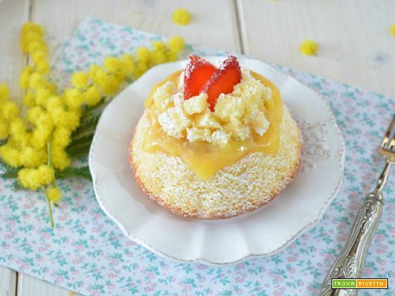 Mini Chiffon Cake mimosa con lemon curd
