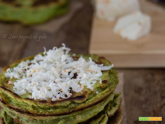 Pancakes salati ai broccoli e ricotta dura