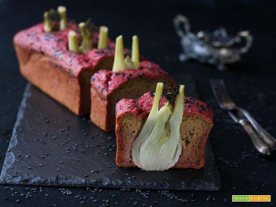 Plumcake salato barbabietole e finocchi interi