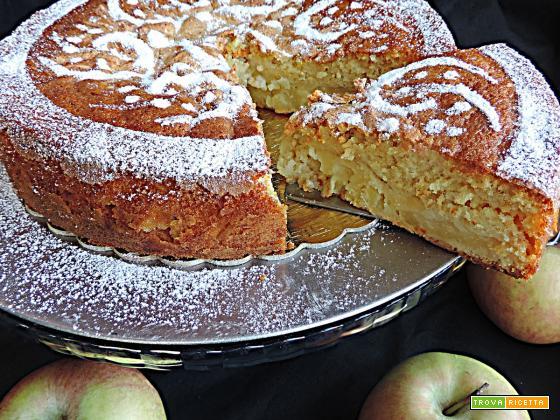 Torta di mele alla panna (senza burro e olio)