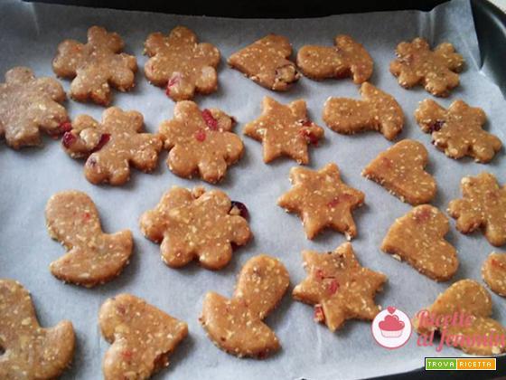 Biscotti con lievito madre e bacche di goji
