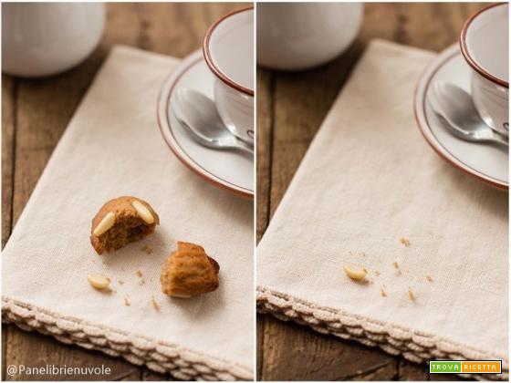 Petite madeleines con farina di castagne e pinoli: la ricetta di Panelibrienuvole