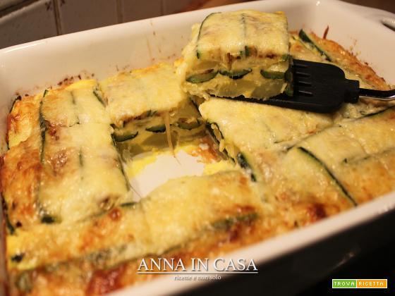 Parmigiana di patate e zucchine