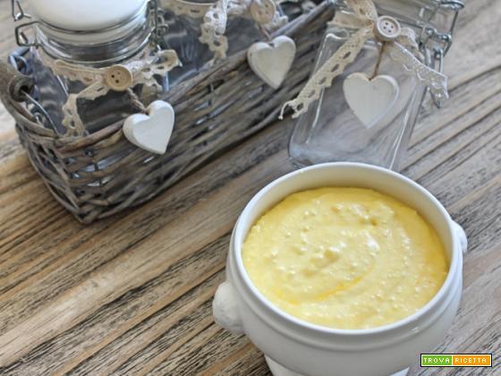Crema di brie e parmigiano con lo zafferano