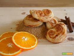 Ventagli di sfoglia con arancia e cannella