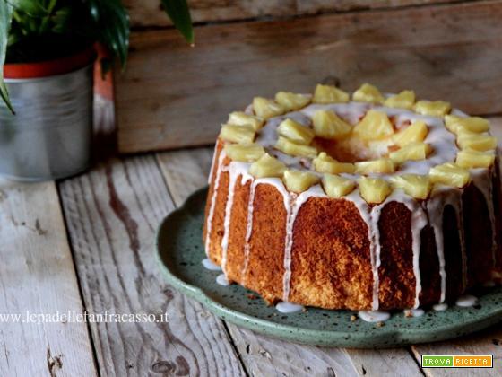 CHIFFON CAKE ALL'ANANAS CON GLASSA AL MARASCHINO