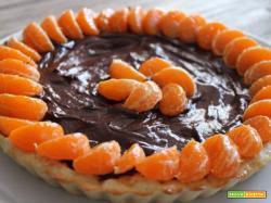 Crostata al cioccolato fondente con le clementine