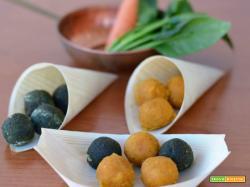 Polpettine di carote e spinaci
