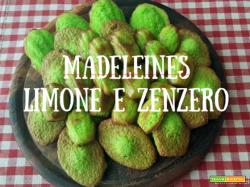 Madeleines di San Patrizio, rigorosamente verdi, al limone e zenzero
